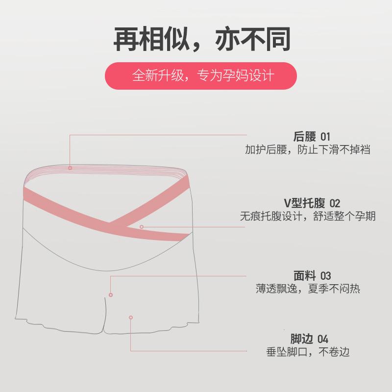 孕妇短裤夏季时尚外穿孕妇装春夏装薄款低腰打底裤子安全裤防走光