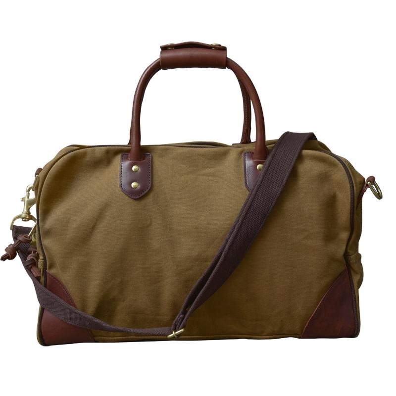 欧美复古油蜡帆布配树膏皮手拎旅行袋男士行李运动包 二十四街