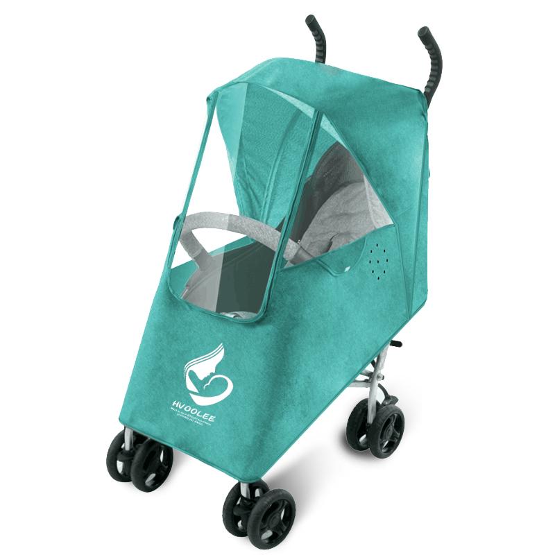 婴儿推车雨罩儿童伞车罩防风挡雨罩保暖罩BB车童车雨衣雨披遮雨罩