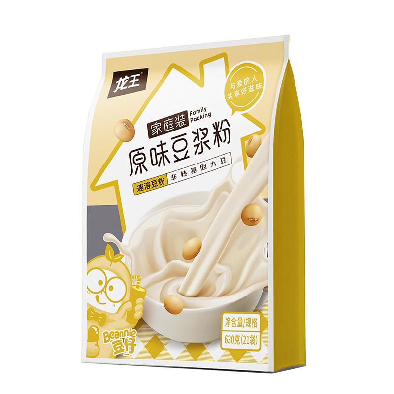 【龙王】家庭装原味豆浆粉30g*21包