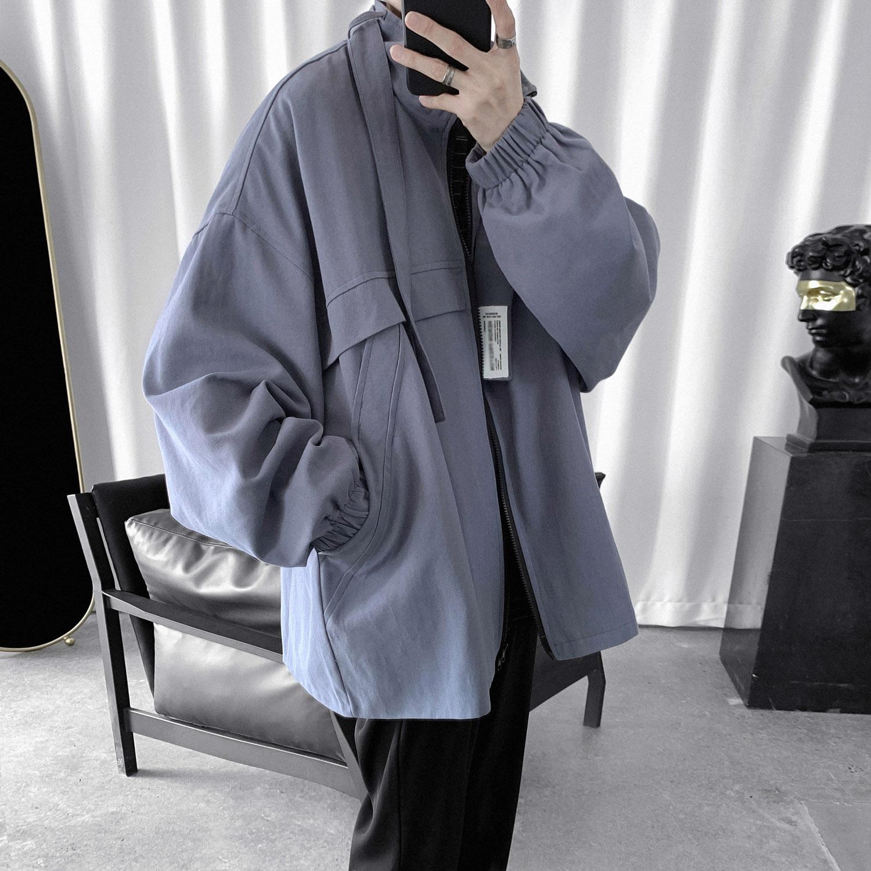 春秋冬季新款韩版潮流学生宽松工装外套 风衣男短款英伦  很仙 2020