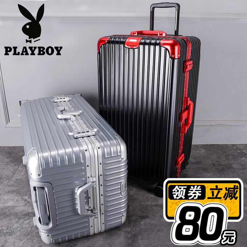 旅行箱子 30 寸超大容量行李箱男铝框加厚拉杆箱女万向轮 32 花花公子