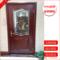 实木铝合金门窗不透光中空铜条镶嵌玻璃门艺术玻璃门芯隔断定做
