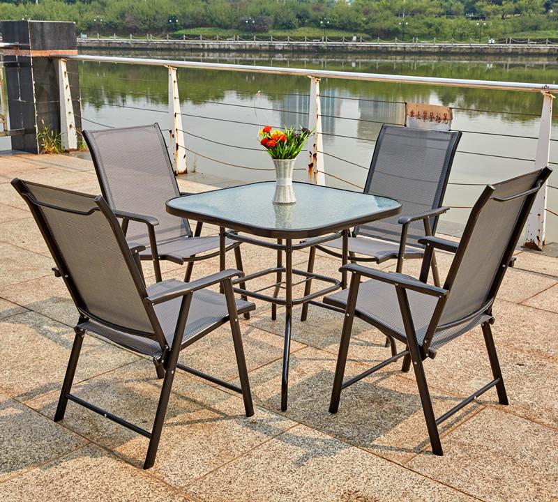 户外折叠桌椅套装花园桌椅组合户外休闲场所桌椅露天庭院台桌椅子