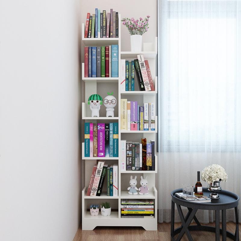 简约现代书架落地家用学生大容量多层置物架儿童简易省空间小书柜