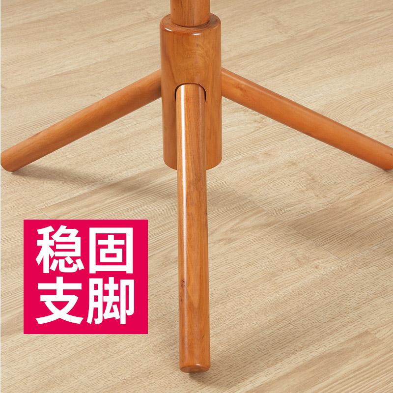 简易衣架落地卧室挂衣架移动创意实木组装室内衣帽架组合置物架