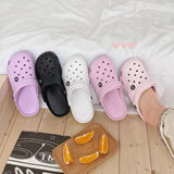 2020 new hole shoes female non-slip thick bottom nurse shoes summer net red sandals and slippers wear stylish wild slippers