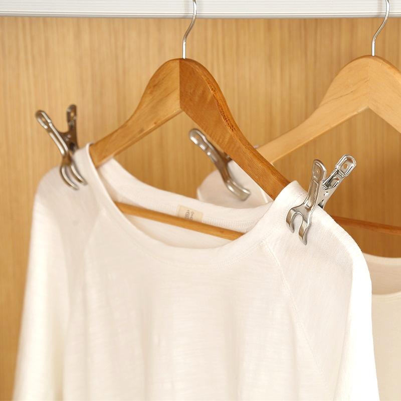 不锈钢衣夹晾衣夹棉被大号强力防风蚊帐晒被子衣服的夹子衣架金属