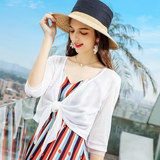 Ice silk sweater women's summer cardigan thin coat small fragrance style short shawl sunscreen shirt air conditioning jacket