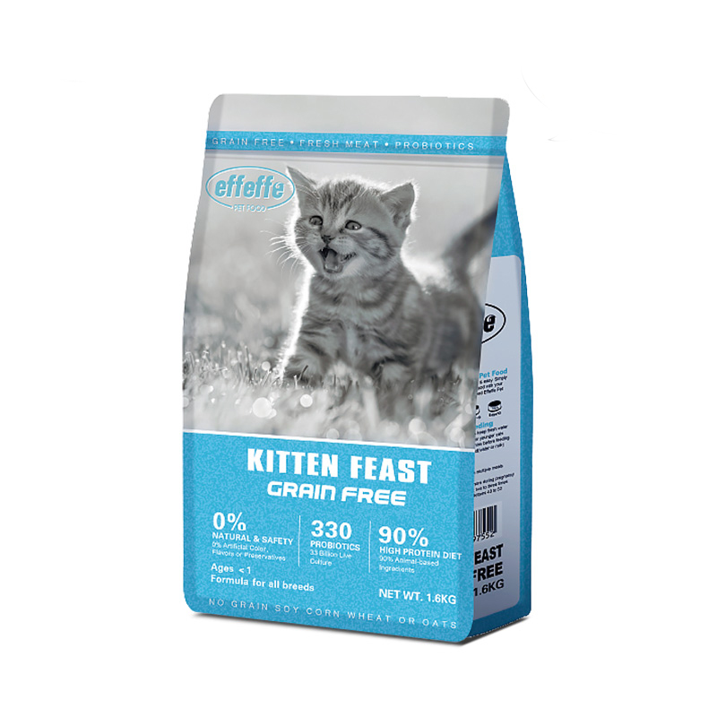 进口猫粮Effeffe爱菲菲无谷高蛋白质奶糕幼猫成猫猫粮1.6kg5.4kg优惠券