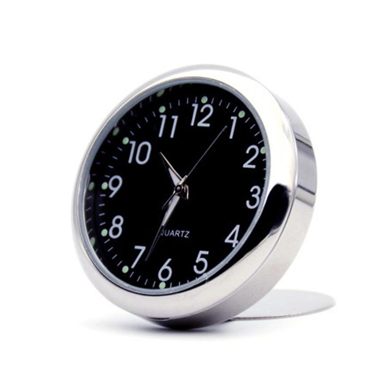 雪鸟原创 汽车石英表石英钟超薄底座汽车时钟车用电子表车载时钟