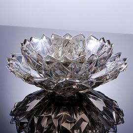 个性创意简约现代客厅水晶玻璃欧式水果盘北欧风格家用套装