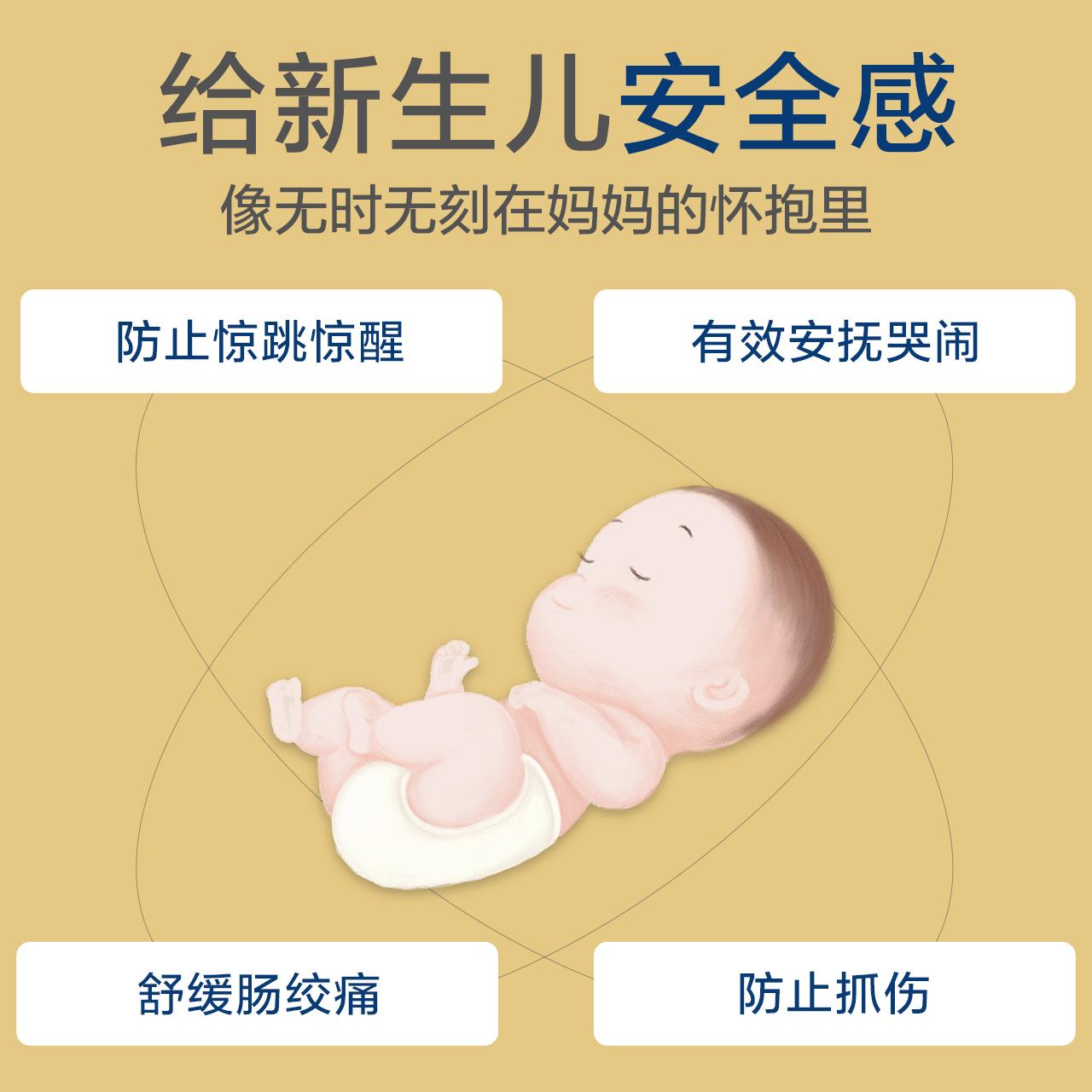 米乐鱼 婴儿纱布睡袋春夏新生儿0-6个月防惊跳宝宝睡袋夏季薄款
