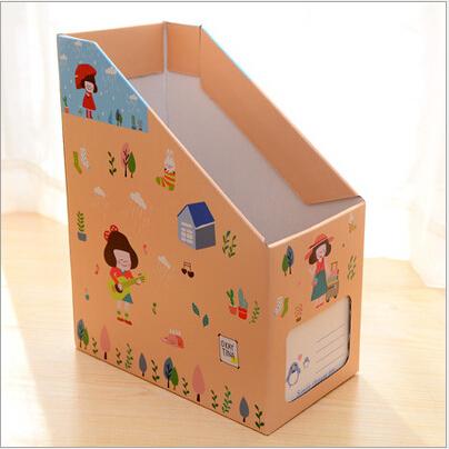 桌面收纳盒纸质文件书本杂志架DIY书桌整理盒书架书立 大号