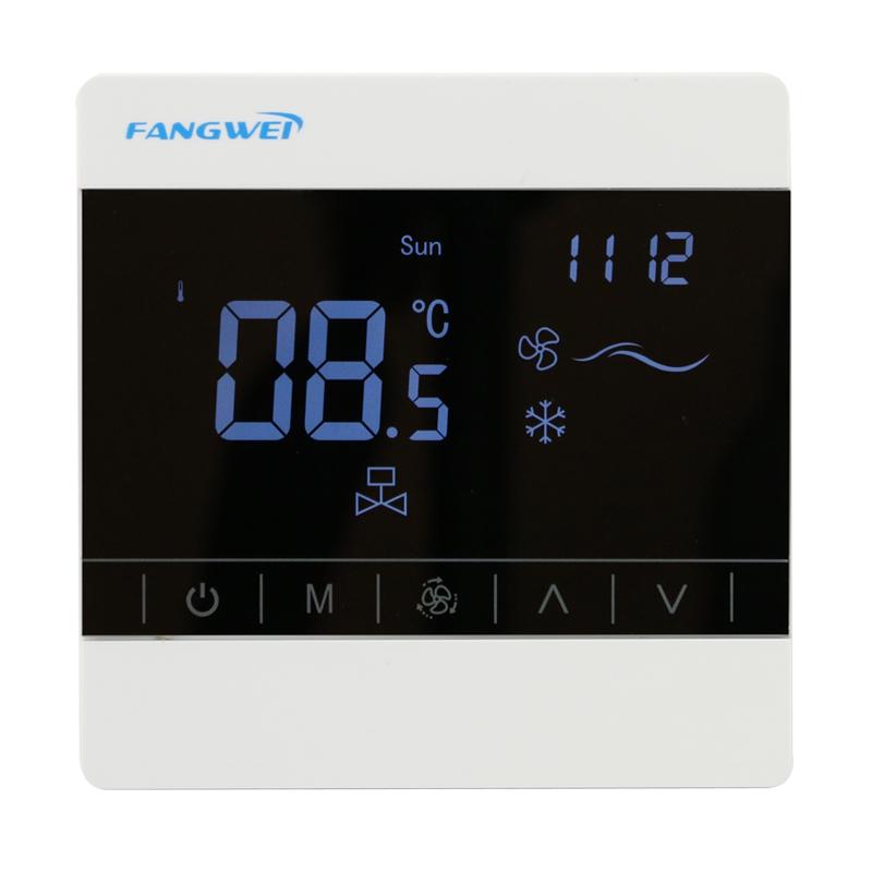 RS485通讯接口远程控制 中央空调液晶屏温控器智能控制开关面板