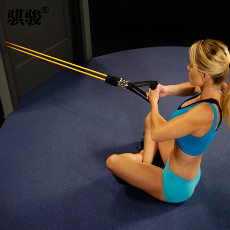 家用健身拉力繩彈力繩拉力器把手腳踝帶葫蘆扣阻力帶帶彈力帶拉手
