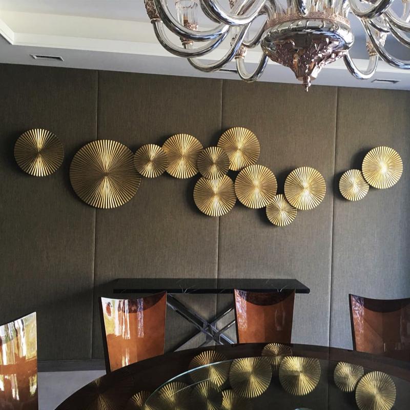 轻奢墙面装饰挂件 餐厅客厅墙饰软装墙上背景墙壁挂新中式壁饰