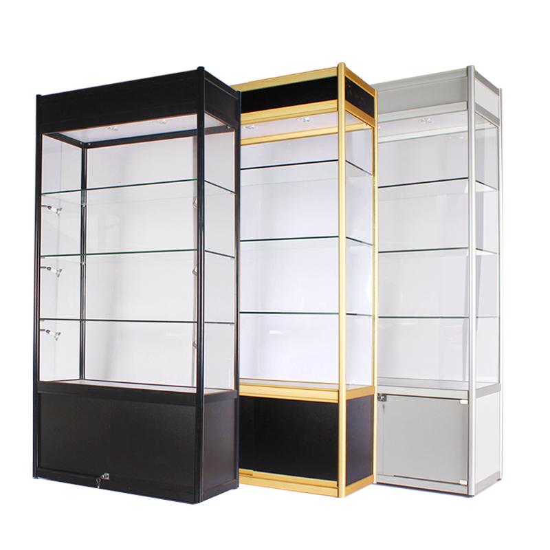 精品玻璃展示柜产品化妆品柜药店陈列柜台礼饰品手机货架 可定制