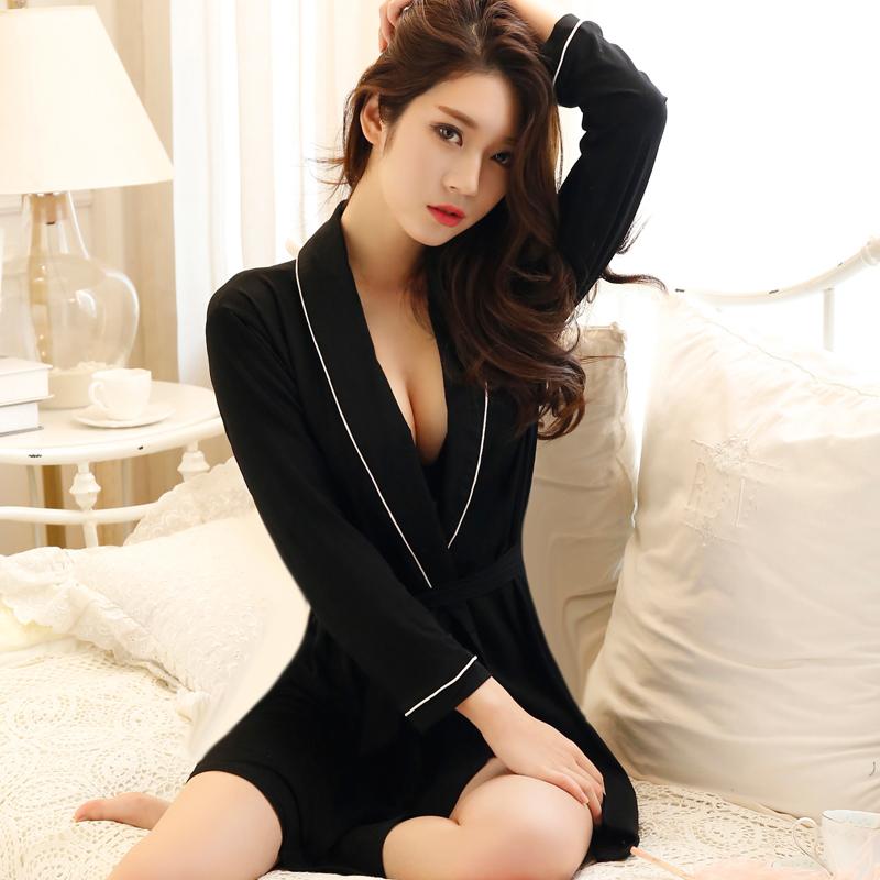 长款睡袍春秋女士性感浴袍和服夏季薄款晨袍浴衣夏天日式睡衣和风