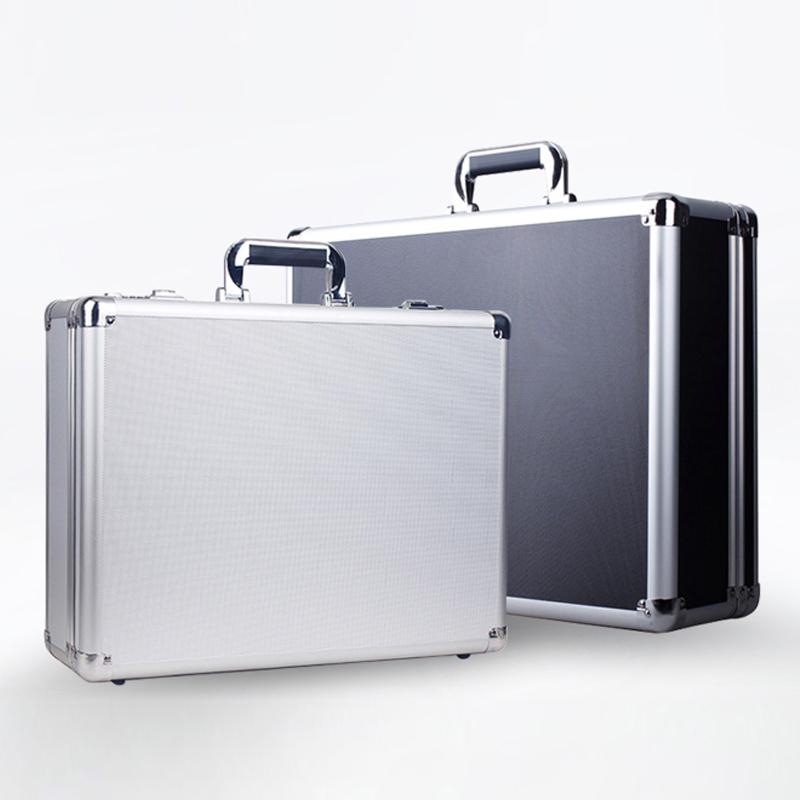 手提式铝合金密码工具箱保险箱子文件箱五金设备仪器箱多功能大号