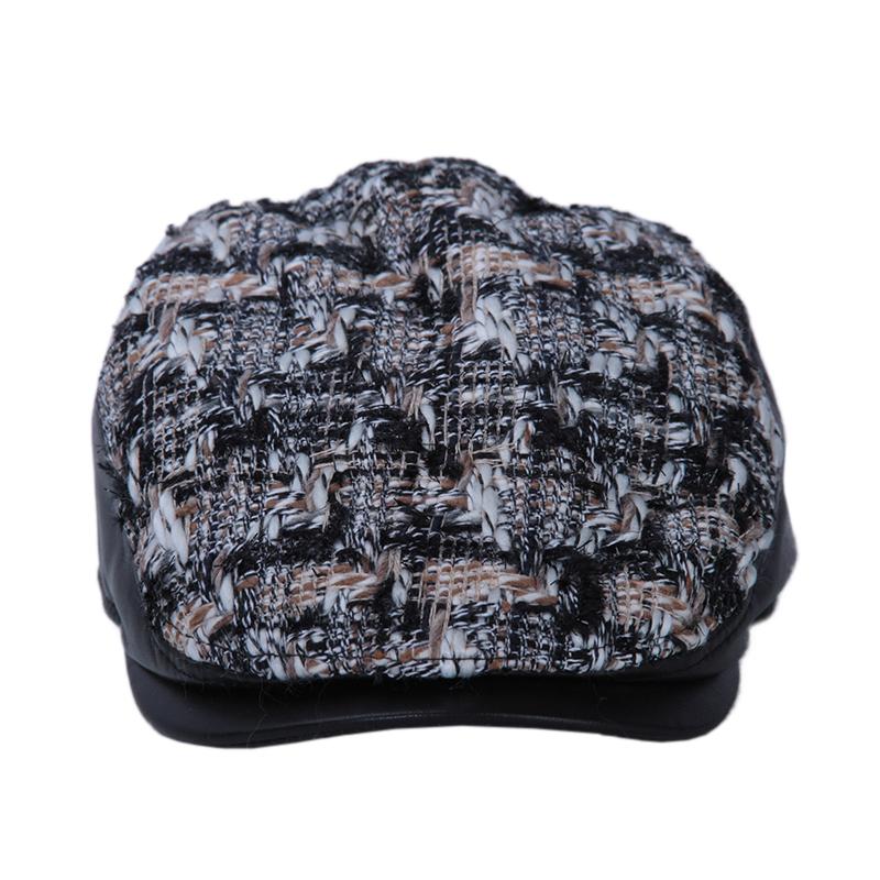 盛锡福19年秋季冬季男士鸭舌帽皮质帽檐骑行帽街拍旅行配饰帽子