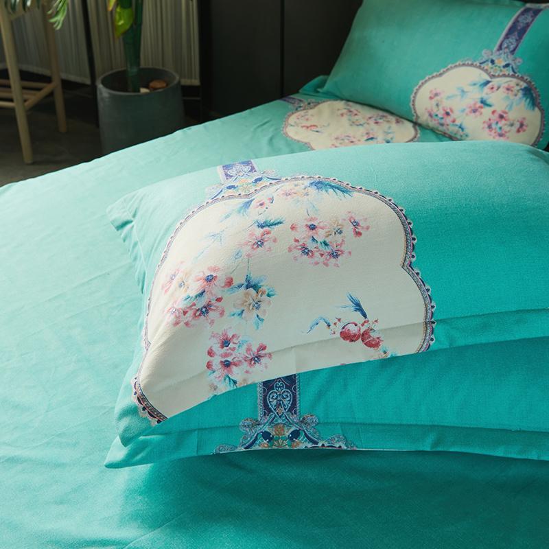件套女宿舍双人床上用品 4 简约床单被套 1.8m 床上四件套
