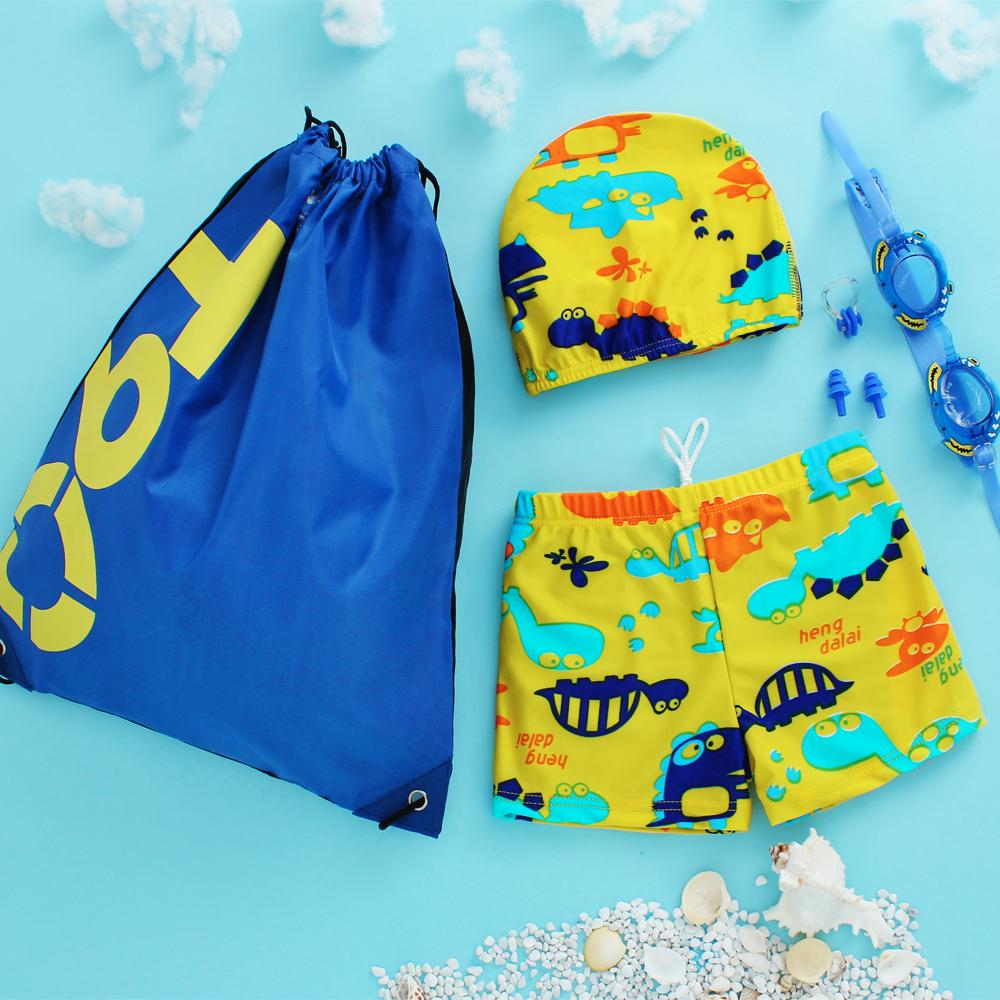 2018新款兒童寶寶嬰兒泳衣男童小童平角溫泉泳褲泳裝可愛卡通泳裝
