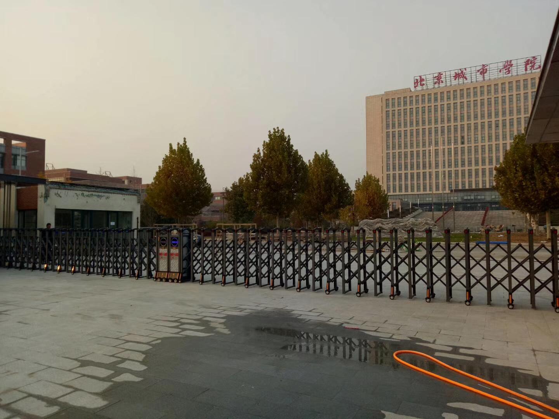 北京不锈钢电动伸缩门 自动无轨电动大门推拉门 单轨 双轨遥控