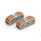 Wire connector 2 bit universal fast terminal soft and hard wire butt terminal quick connector two in two out