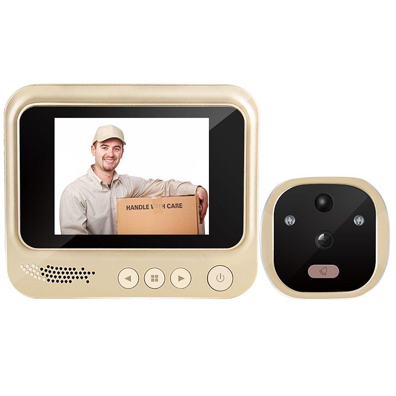 防盗监控摄像头门镜带夜视 零距离智能电子门铃可视猫眼门铃家用