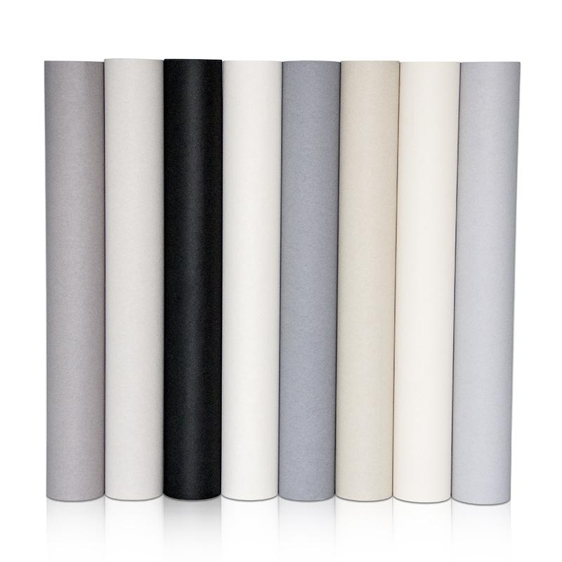 卷德国进口灰色黑色壁纸现代简约纯色素色墙纸 5.3 玛撒 MASAR
