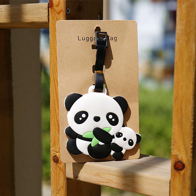 10件包郵旅遊紀念品熊貓行李牌旅行旅行箱拉桿箱登機牌掛牌託運牌