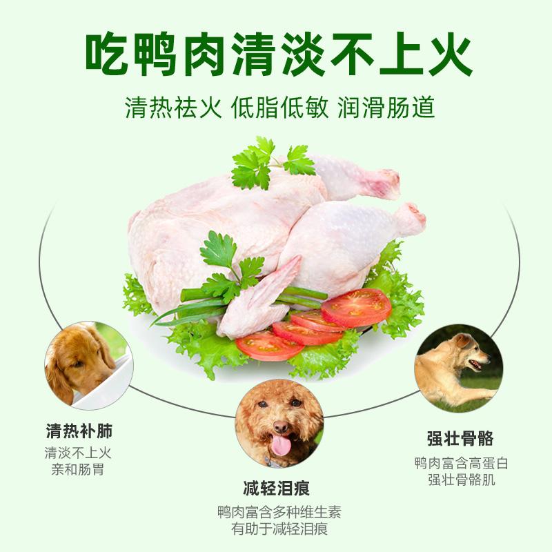 多特思鲜肉狗粮鸭肉幼犬成犬老犬全犬种通用型12kg优惠券