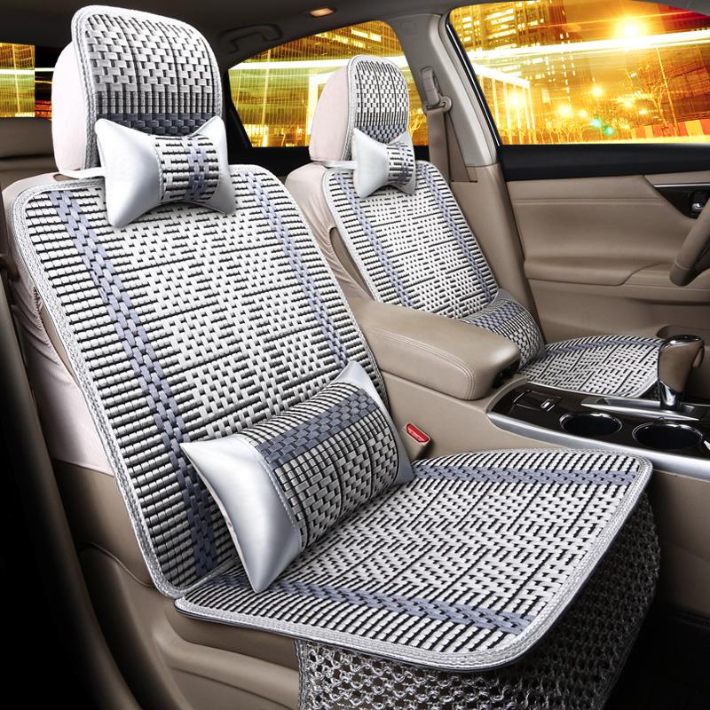 19新款汽车坐垫四季通用全包围车垫套座椅垫小车秋冬夏季冰丝座垫