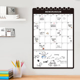 Family planner calendar refrigerator magnet stickers erasable creative refrigerator note week planner convenient message board