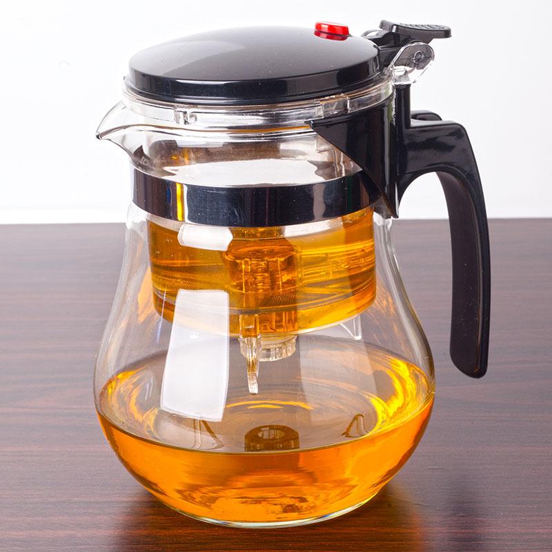 凱立重壓耐熱玻璃飄逸杯可拆洗過濾內膽花茶玲玲杯茶具茶壺沖茶器
