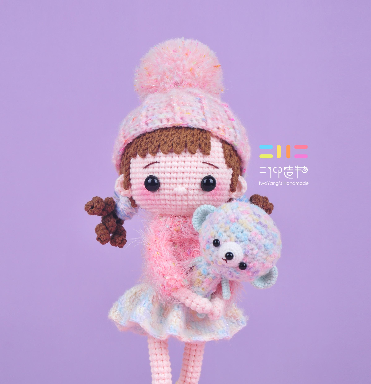 二仰造物原創 變裝娃娃coco鉤針玩偶 視頻材料包 創意禮物