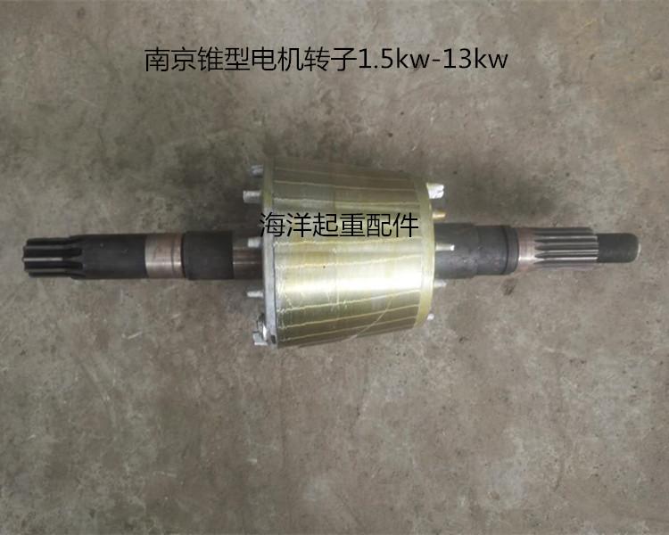 起重机 行吊电动葫芦南京锥型电机转子送锁母3.0/4.5/7.5/13kw - 图1