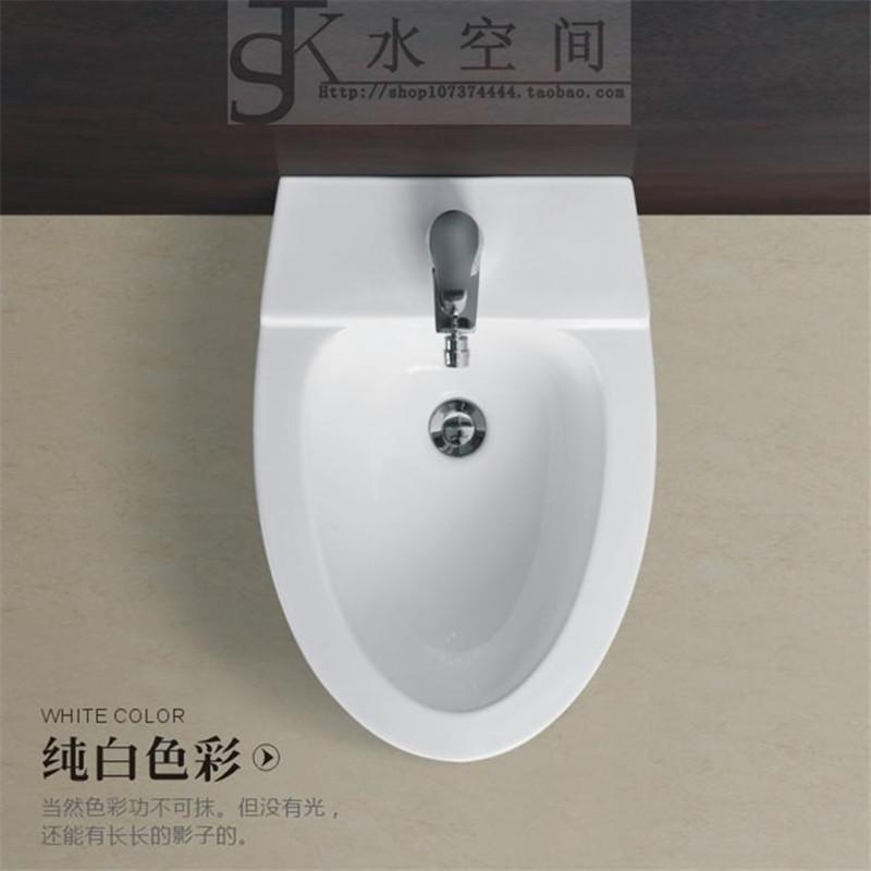 卫生间挂墙式洗屁股盆冲洗阴道清洁身盆落地妇洗池陶瓷立式净身器