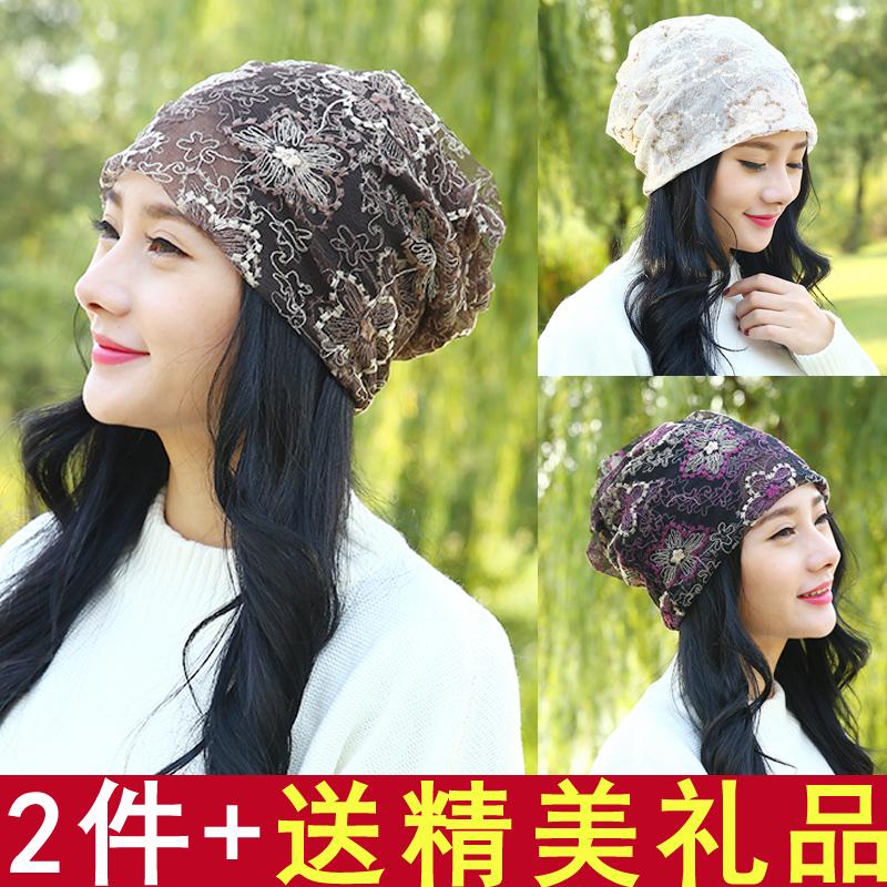 孕妇冒夏天超薄月子帽夏季薄款时尚透气产后春季产妇帽子蕾丝两用