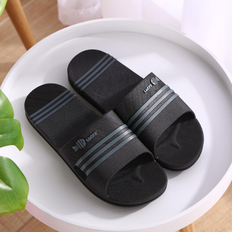 拖鞋男士夏季浴室居家室内防滑软底男厚底耐磨男款潮流一字凉拖鞋