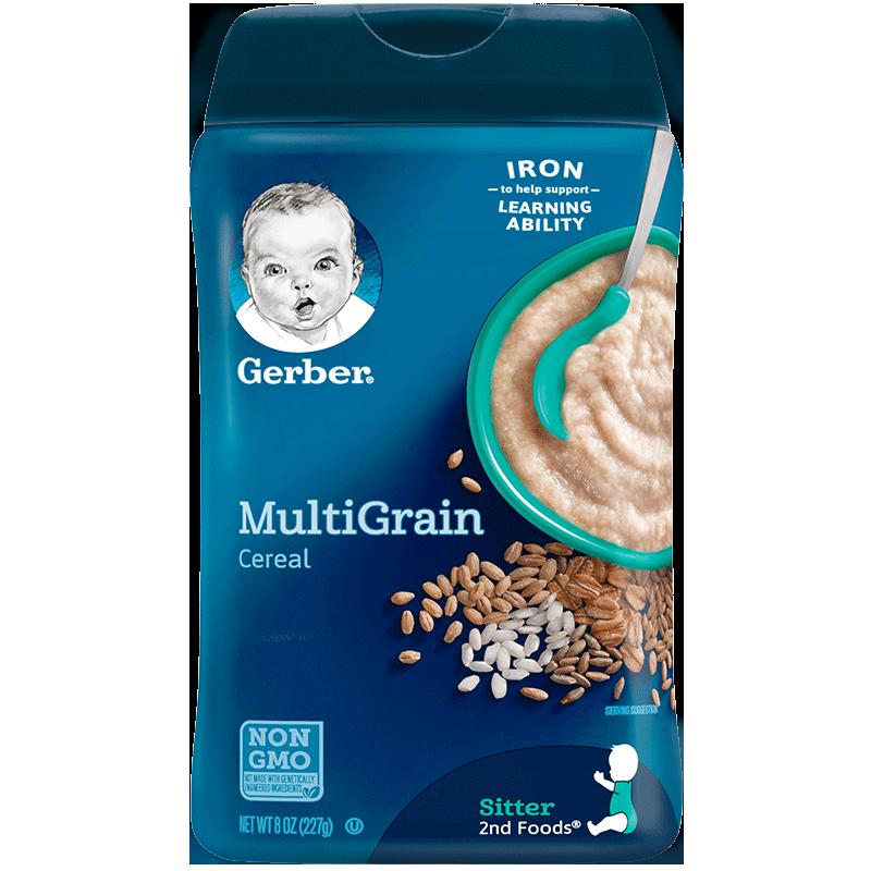 美国嘉宝米粉2段婴儿混合谷物高铁米糊宝宝营养辅食婴幼儿6个月+