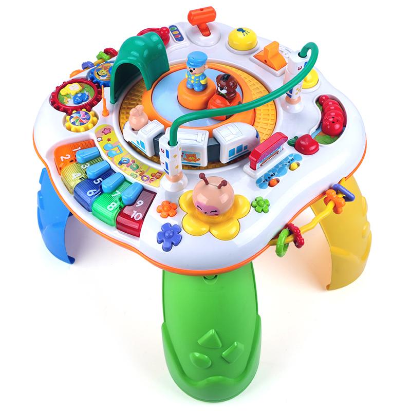 谷雨儿童多功能游戏桌宝宝双语学习桌1-2-3岁婴儿早教益智玩具台
