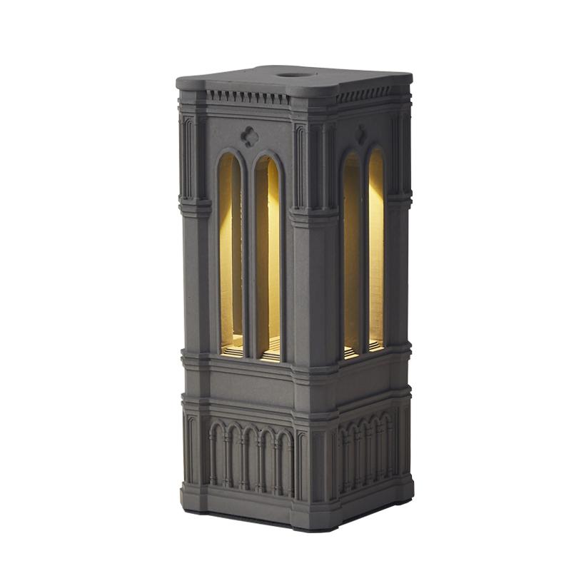 另一边原创设计罗马建筑水泥小夜灯现代简约混凝土卧室触摸床头灯