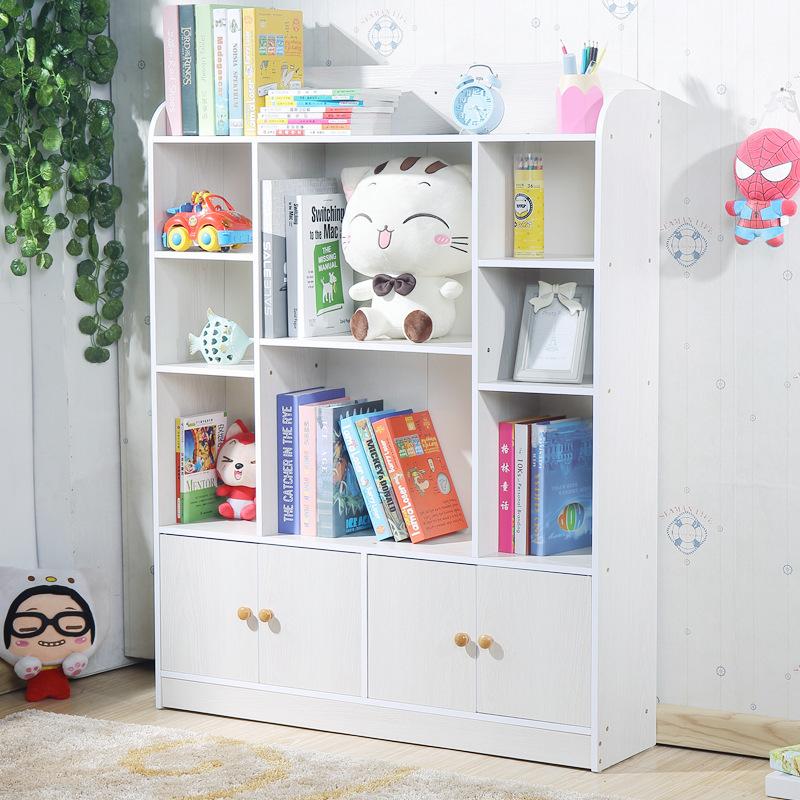 儿童书架落地书柜简易小学生幼儿园收纳置物架简约现代家用省空间