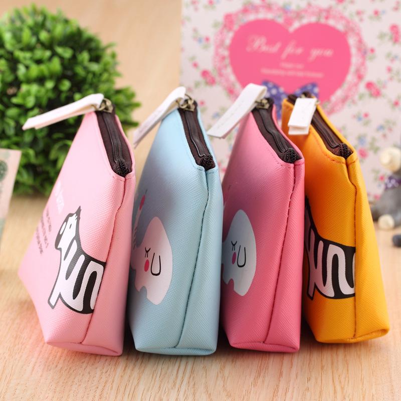 韩国迷你学生零钱包女士拉链小钱包钥匙包耳机硬币收纳包小包包