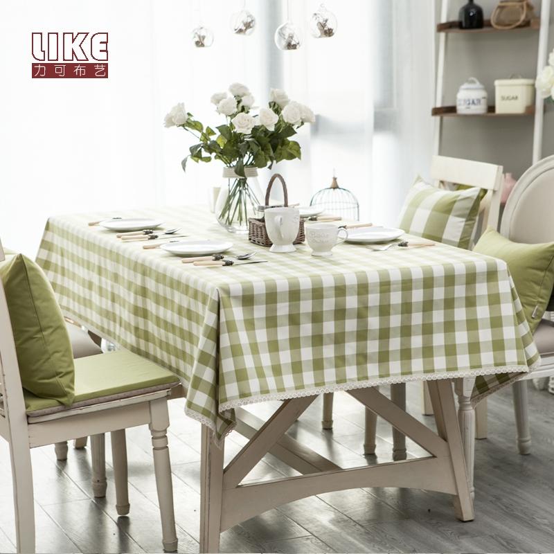 防水布藝檯布餐桌茶几桌布原創日式小清新現代簡約現代格子長方形