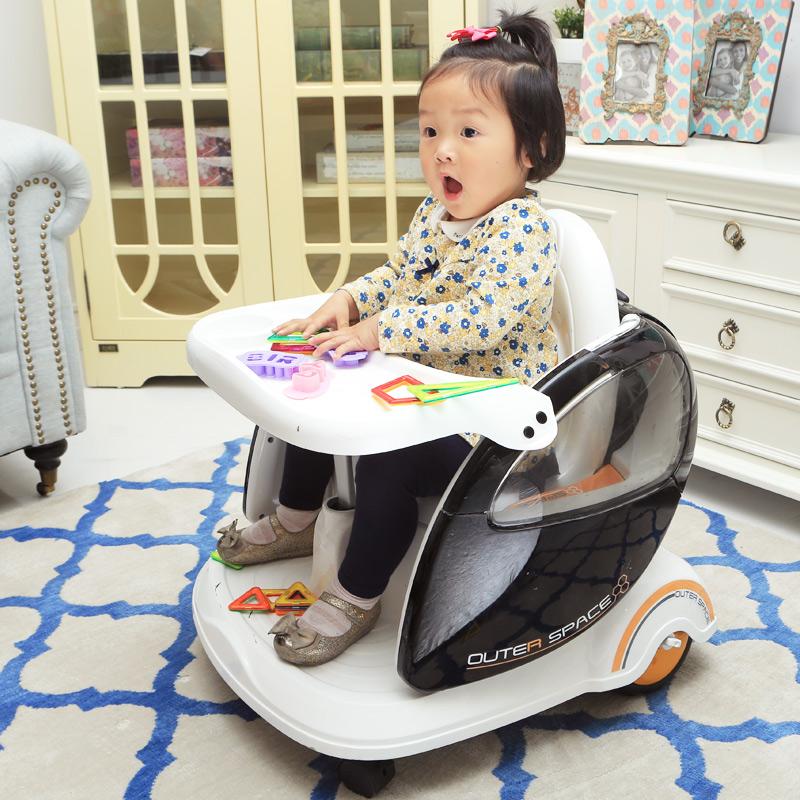 福兒寶遙控兒童電動車雙驅四輪寶寶玩具汽車餐車盤手推車小孩可坐