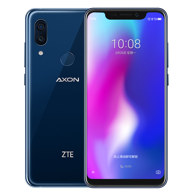 64GB 6 智能手机 4G 手机全网通 845 高通骁龙 9 天机 AXON 简约版 A2019 中兴 ZTE