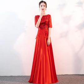 大合唱服装合唱团演出服女长裙2020新款晚礼服长款年会主持人礼服